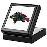 Bright Fish Print Keepsake Box