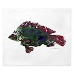 Bright Fish Print King Duvet