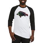 Bright Fish Print Baseball Jersey