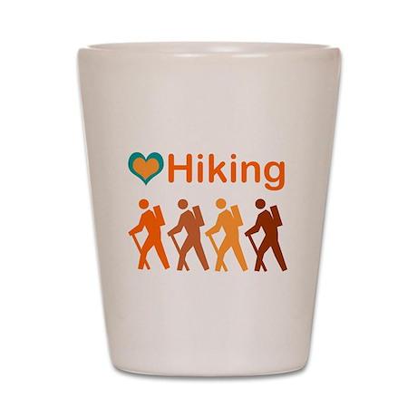 Love Hiking with Heart Shot Glass
