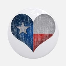 Faded Texas Love Ornament (Round)