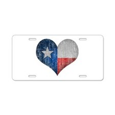 Faded Texas Love Aluminum License Plate