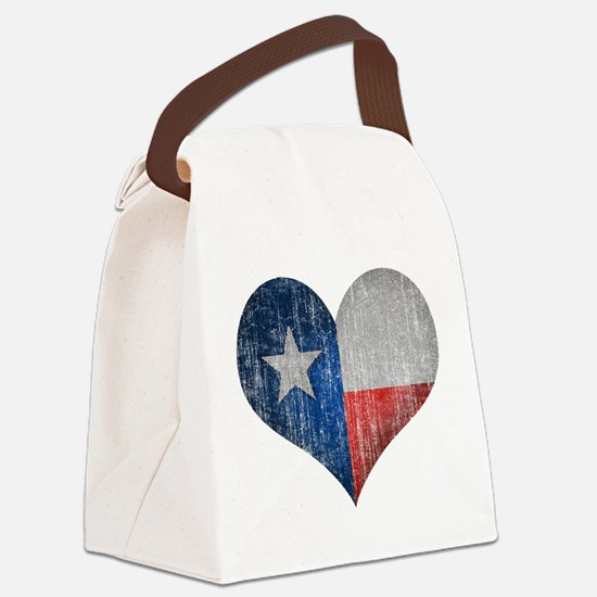 Faded Texas Love Canvas Lunch Bag