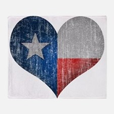 Faded Texas Love Throw Blanket