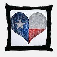 Faded Texas Love Throw Pillow