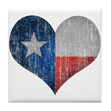 Faded Texas Love Tile Coaster