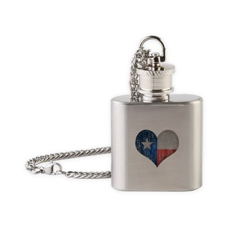 Faded Texas Love Flask Necklace