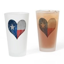 Faded Texas Love Drinking Glass