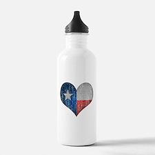 Faded Texas Love Water Bottle