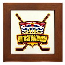 British Columbia Hockey Flag Framed Tile