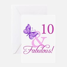 Fabulous 10th Birthday Greeting Card