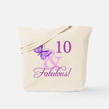 Fabulous 10th Birthday Tote Bag