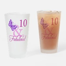 Fabulous 10th Birthday Drinking Glass