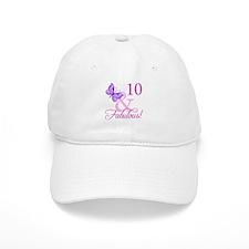 Fabulous 10th Birthday Baseball Cap