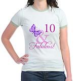 10th birthday Jr. Ringer T-Shirt