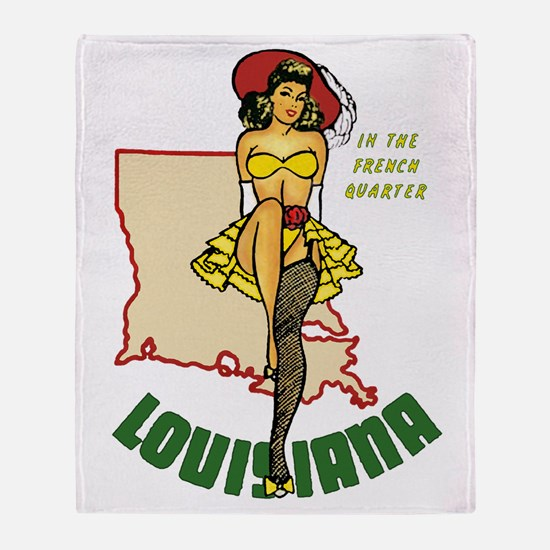 Louisiana Pinup Throw Blanket