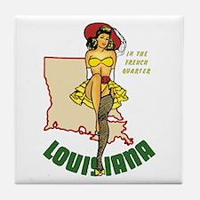 Louisiana Pinup Tile Coaster