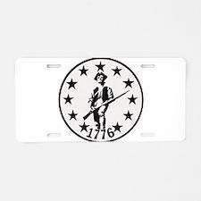 Original Minute Man Aluminum License Plate