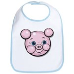 Pink Pig Cute Face Cartoon Bib