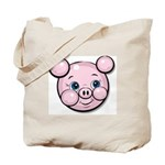 Pink Pig Cute Face Cartoon Tote Bag