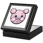 Pink Pig Cute Face Cartoon Keepsake Box