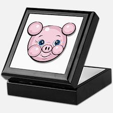 Pink Pig Cute Face Cartoon Keepsake Box