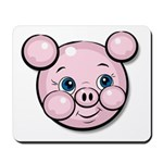 Pink Pig Cute Face Cartoon Mousepad
