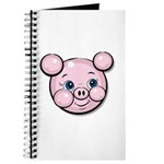 Pink Pig Cute Face Cartoon Journal