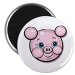 "Pink Pig Cute Face Cartoon 2.25"" Magnet (10 pack)"
