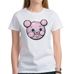 Pink Pig Cute Face Cartoon Women's T-Shirt