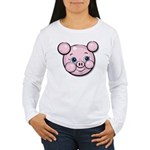 Pink Pig Cute Face Cartoon Women's Long Sleeve T-S