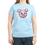 Pink Pig Cute Face Cartoon Women's Light T-Shirt