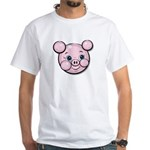 Pink Pig Cute Face Cartoon White T-Shirt