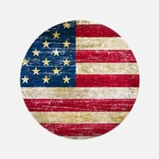"Faded American Flag 3.5"" Button"