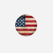 Faded American Flag Mini Button