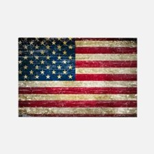 Faded American Flag Rectangle Magnet (10 pack)