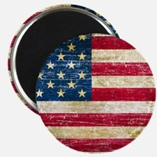 """Faded American Flag 2.25"""" Magnet (100 pack)"""