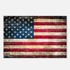 Faded American Flag Postcards (Package of 8)