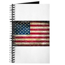 Faded American Flag Journal