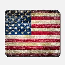 Faded American Flag Mousepad