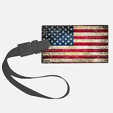 Faded American Flag Luggage Tag