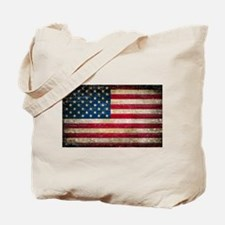 Faded American Flag Tote Bag