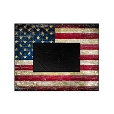 Faded American Flag Picture Frame
