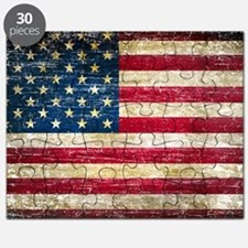 Faded American Flag Puzzle