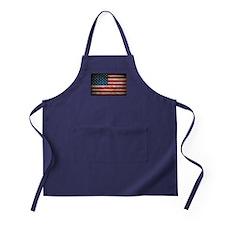 Faded American Flag Apron (dark)