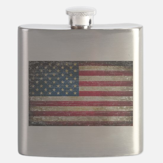 Faded American Flag Flask