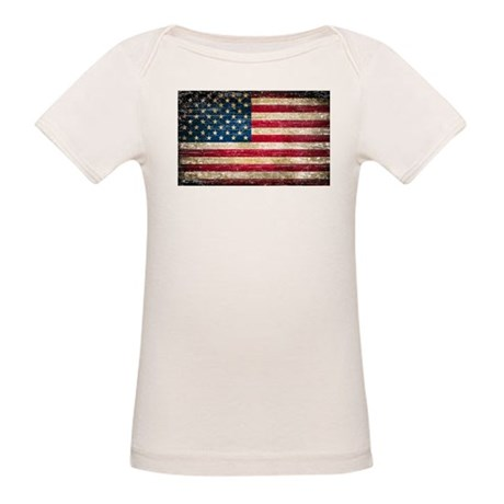 Faded american flag organic baby t shirt faded american for Faded color t shirts