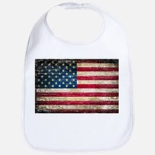 Faded American Flag Bib