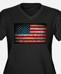 Faded American Flag Plus Size T-Shirt