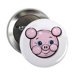 Pink Pig Cute Face Cartoon Button